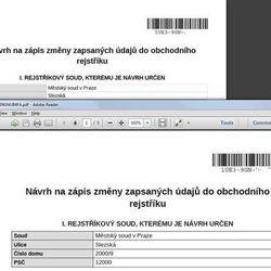 С помощью этого бланка изменения по фирме в Чехии можно сделать on-line