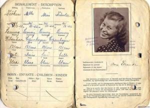 Паспорт Дании: 1945 год