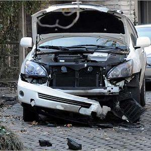 LEXUS русскоговорящего водителя был взорван в чешской столице
